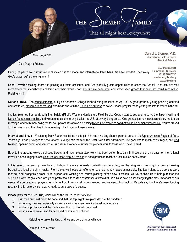 thumbnail of Dan Siemer Mar-Apr 2021 Prayer Ltter – Revised