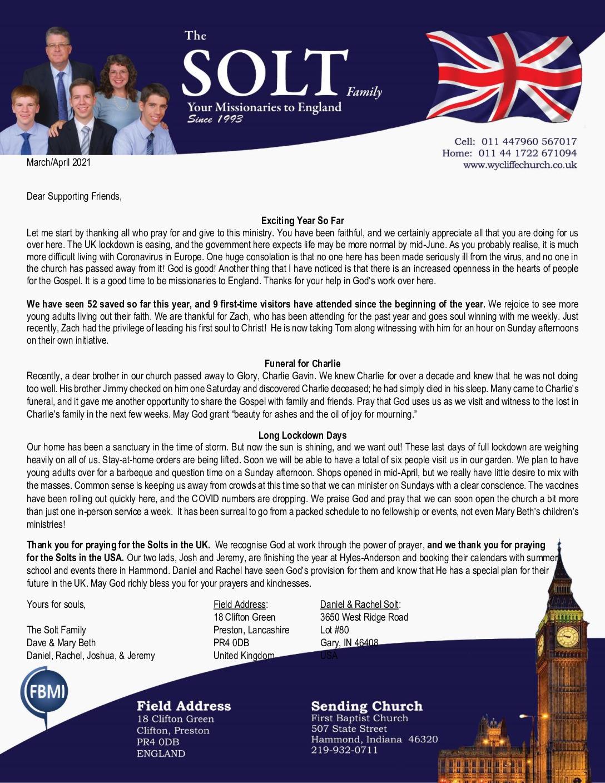 thumbnail of Dave Solt Mar-Apr 2021 Prayer Letter – Revised