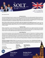 Dave Solt Prayer Letter: Exciting Year So Far