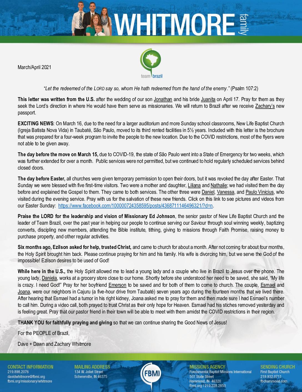 thumbnail of Dave Whitmore Mar-Apr 2021 Prayer Letter