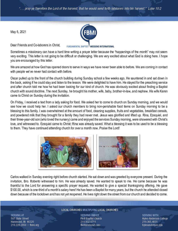 thumbnail of Henry Gonzalez May 2021 Prayer Letter