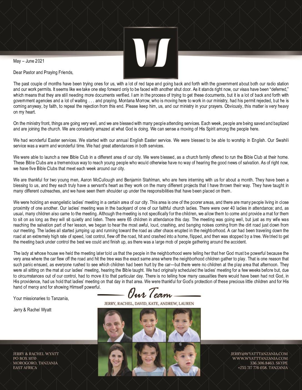 thumbnail of Jerry Wyatt III May-Jun 2021 Prayer Letter – Revised