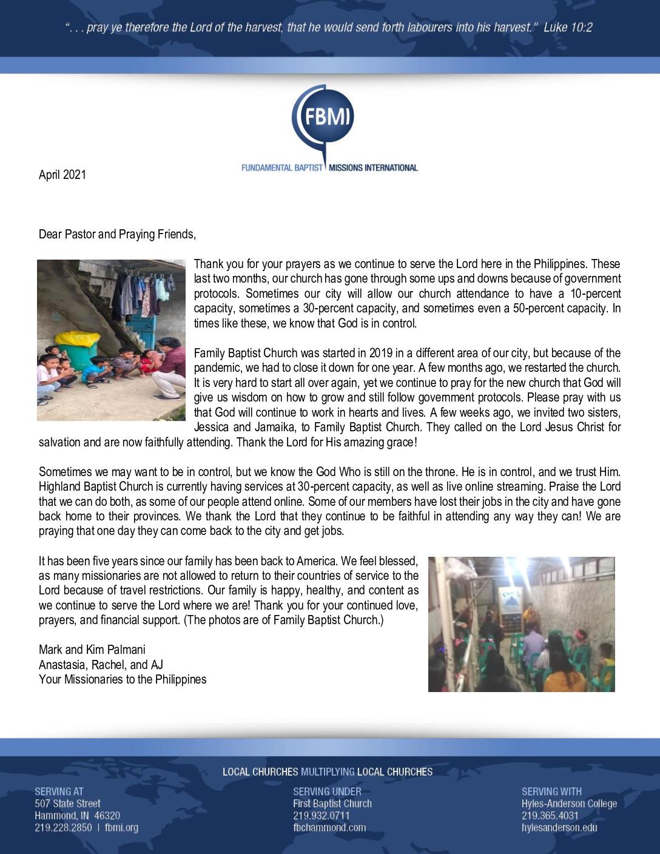 thumbnail of Mark Palmani April 2021 Prayer Letter