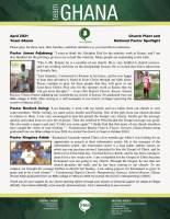 Team Ghana National Pastor Update: Good News from Three Pastors