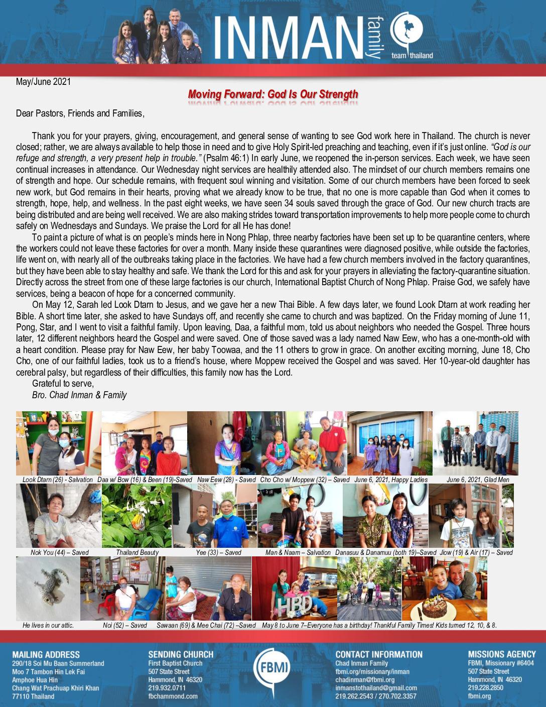 thumbnail of Chad Inman June 2021 Prayer Letter