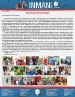 Chad and Sarah Inman Prayer Letter: Moving Forward--God Is Our Strength