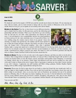 Mike Sarver Prayer Letter: Ministry Home and Abroad