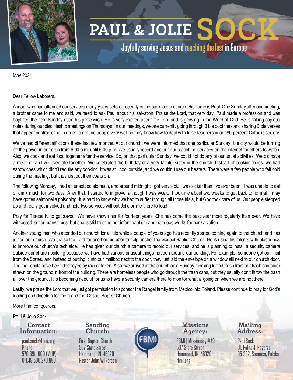 thumbnail of Paul Sock May 2021 Prayer Letter – 2