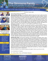 Tim and Christa Simmons Prayer Letter: Working While Waiting