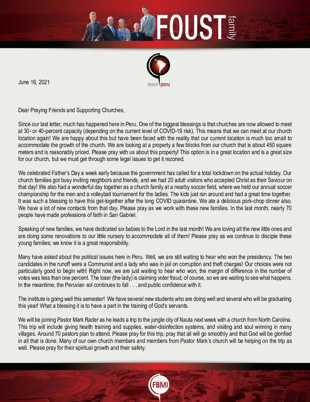 thumbnail of Zach Foust June 2021 Prayer Letter