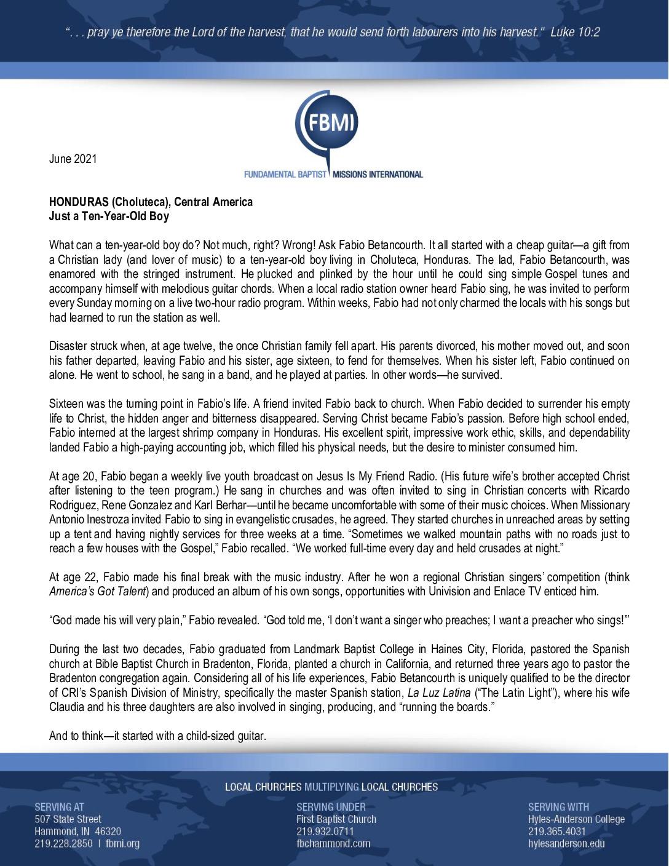 thumbnail of George Zarris June 2021 Prayer Letter