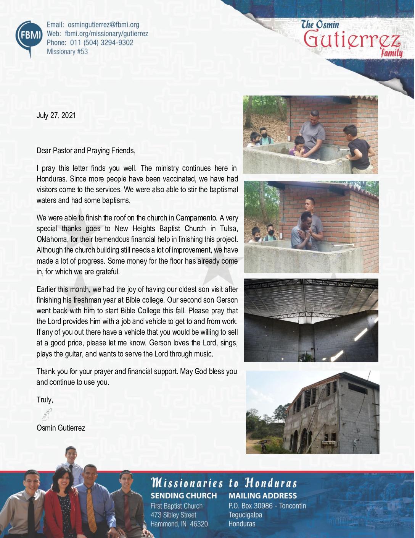 thumbnail of Osmin Gutierrez July 2021 Prayer Letter