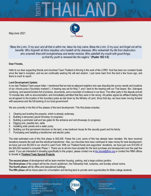 thumbnail of Team Thailand May-Jun 2021 Prayer Letter