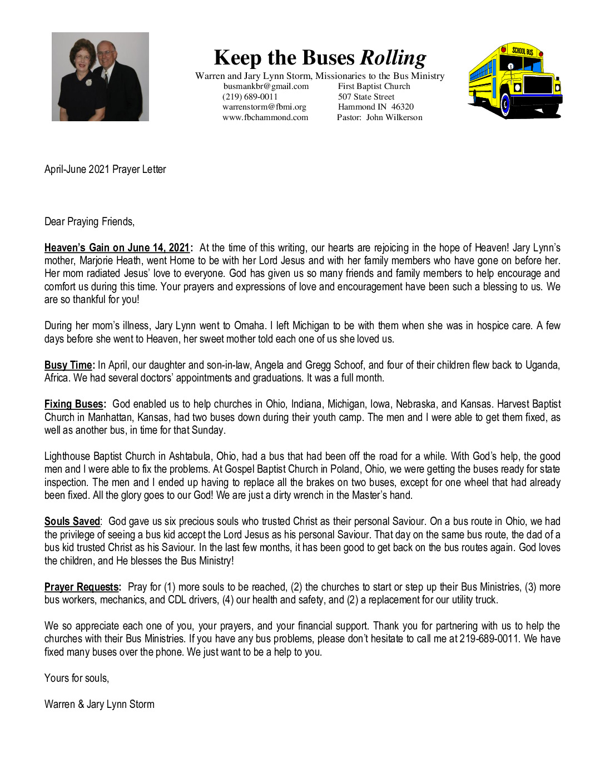 thumbnail of Warren Storm July 2021 Prayer Letter
