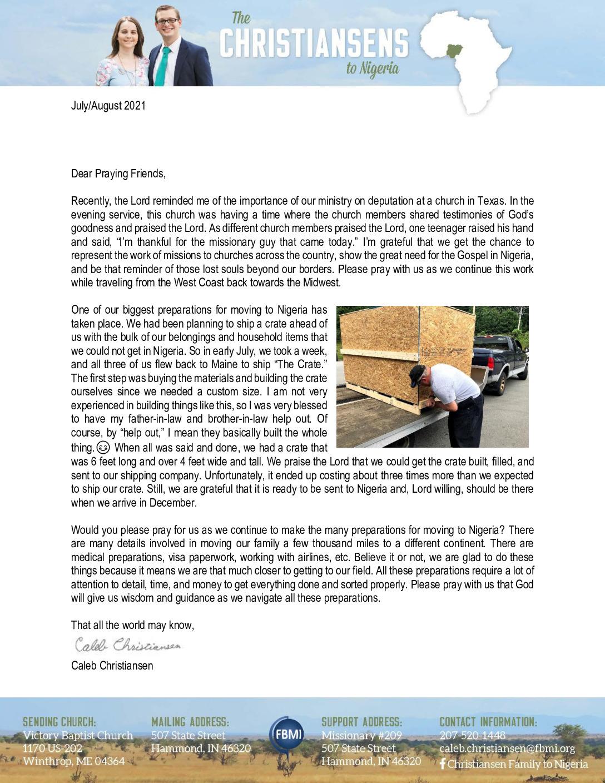 thumbnail of Caleb Christiansen Jul-Aug 2021 Prayer Letter