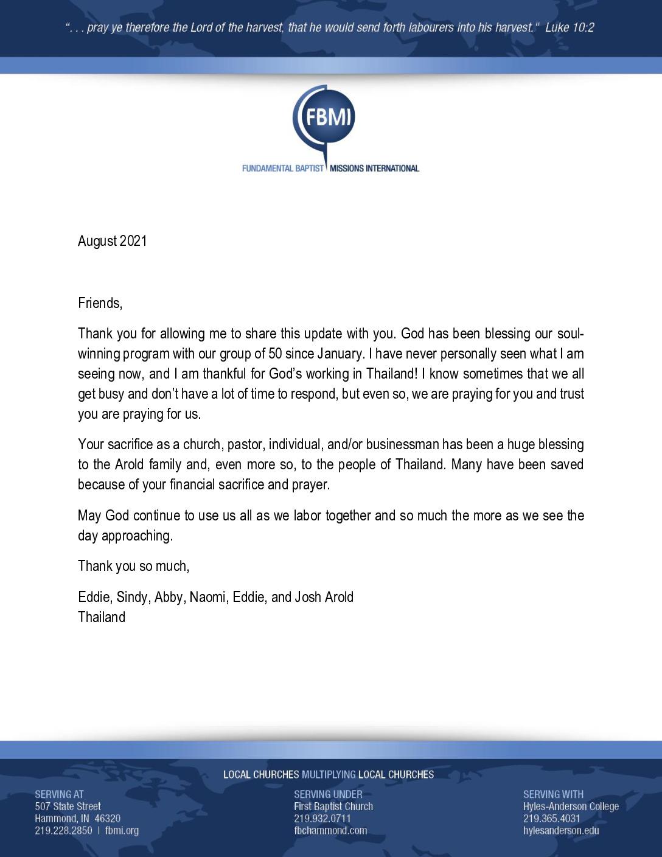 thumbnail of Eddie Arold August 2021 Prayer Letter