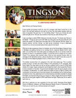 Garry and Mindy Tingson Prayer Letter: A Jam-Packed Month!