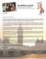 Justin and Holly Williams Prayer Letter: Final Prayer Letter