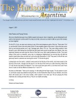 Simeon and Susie Hudson Prayer Letter: Doing More