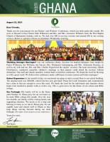 Team Ghana Update: Building Stronger Marriages