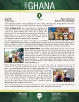 Team Ghana National Pastor Spotlight: Converts Baptized