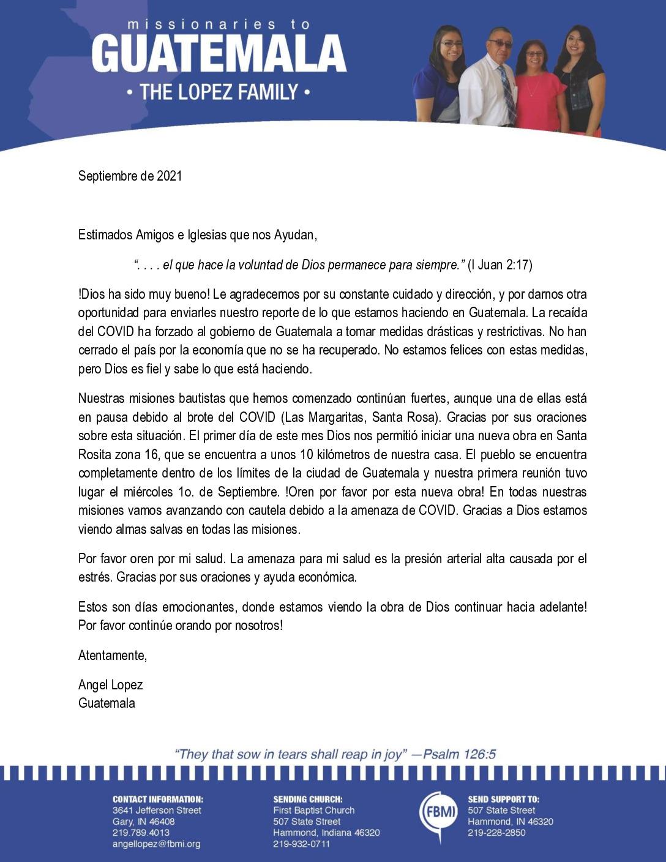 thumbnail of Angel Lopez September 2021 SPANISH Prayer Letter – Revised