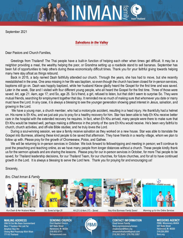 thumbnail of Chad Inman September 2021 Prayer Letter – Revised