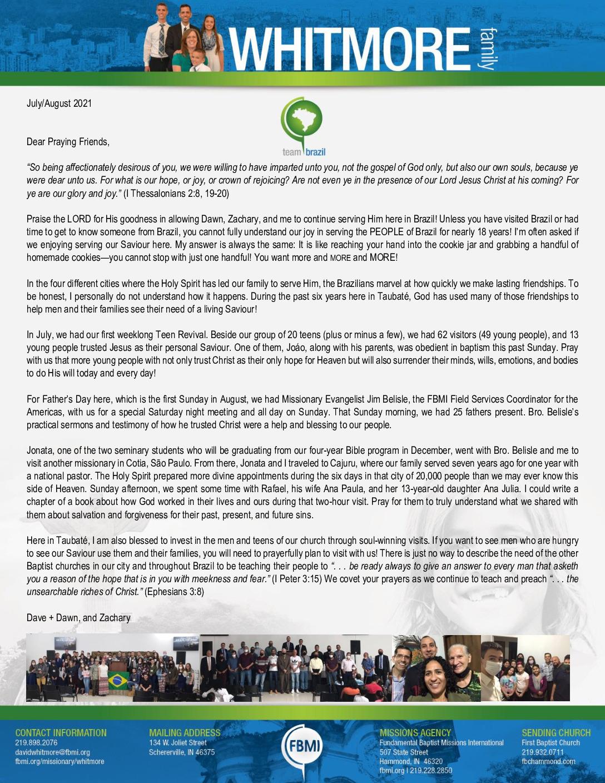 thumbnail of Dave Whitmore Jul-Aug 2021 Prayer Letter