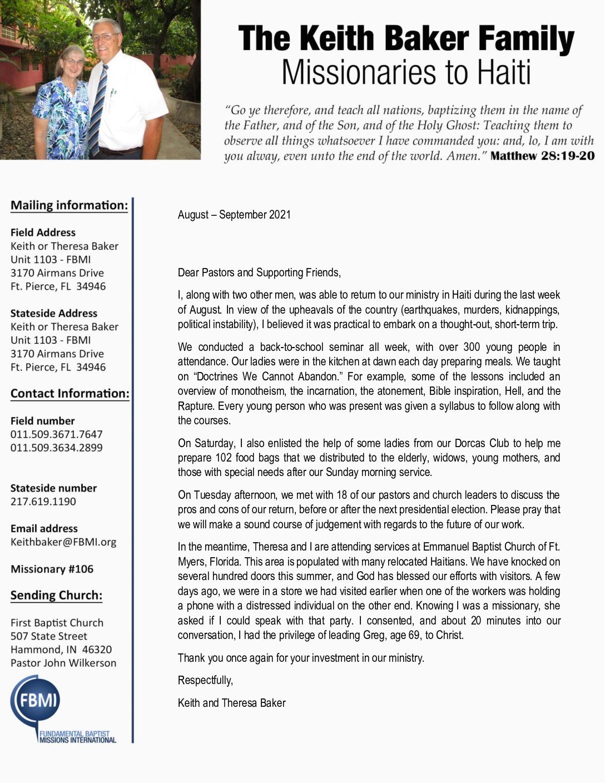 thumbnail of Keith Baker Aug-Sep 2021 Prayer Letter