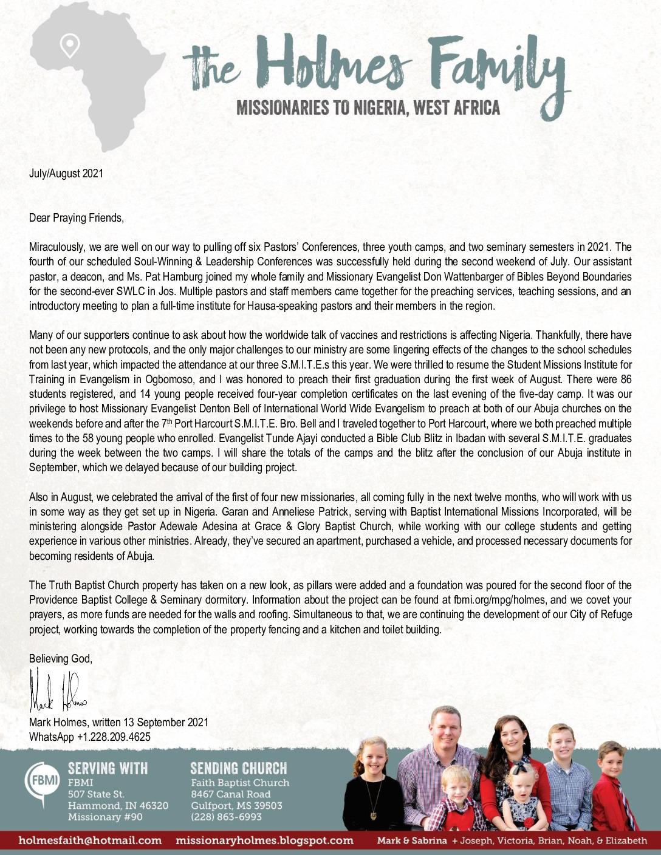 thumbnail of Mark Holmes Jul-Aug 2021 Prayer Letter