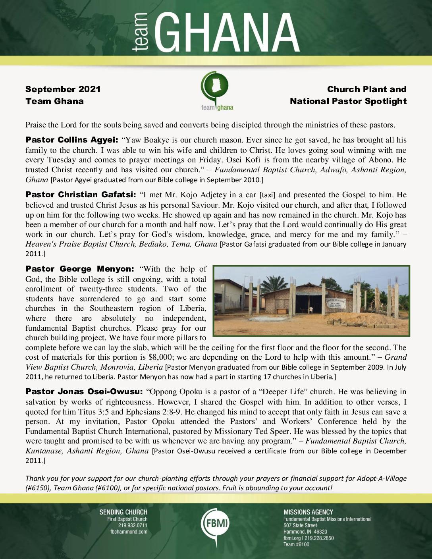 thumbnail of Team Ghana September 2021 National Pastor Update – Revised