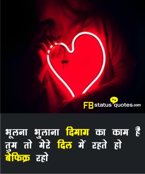 Beautiful Hindi Love Status