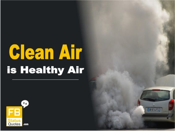 Air Pollution Slogan