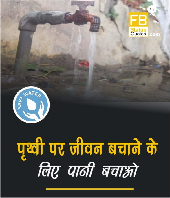 poster on Save Water