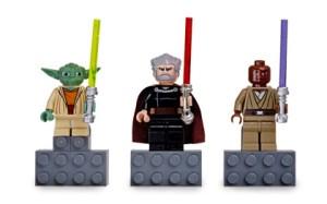 Yoda, Count Dooku, and Mace Windu