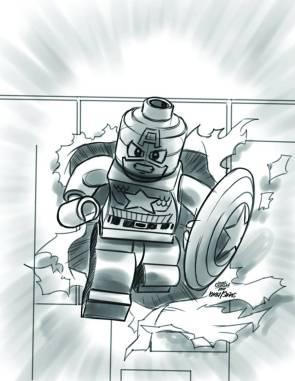 Captain America #12 - LEGO Sketch Variant