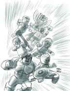 Marvel Universe Avengers Assemble #1 - LEGO Variant Sketch Cover