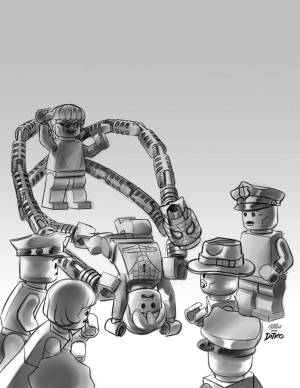 Mighty Avengers #1 - LEGO Sketch Variant