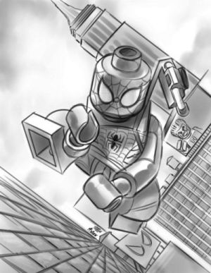 Daredevil #31 - LEGO Spider-man Sketch Variant
