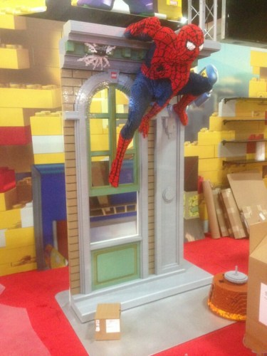 LEGO Booth Spider-Man Statue