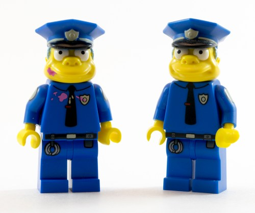 71016 Police Chief Wiggum Comparison