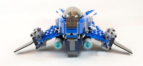 75087 Custom Jedi Starfighter Back