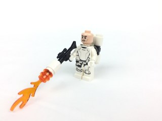 First Order Flametrooper minifig front without helmet