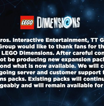LEGO Dimensions Cancellation Notice