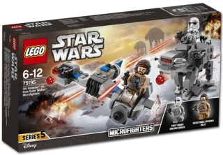 75195 Ski Speeder vs First Order Walker Microfighters