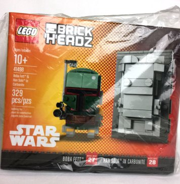 NYCC BrickHeadz Boba Fett Han Solo in Carbonite