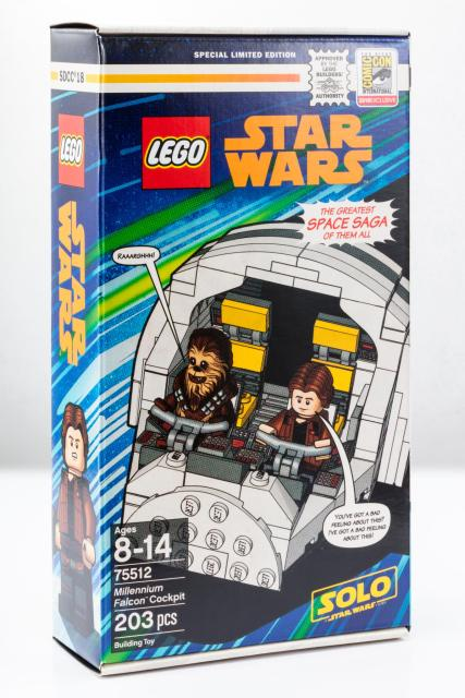 LEGO SDCC Exclusive 75512 Millennium Falcon Cockpit box