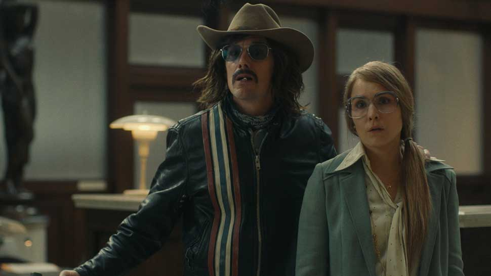 """ETHAN HAWKE and NOOMI RAPACE in """"Stockholm,"""" courtesy of Dark Star Pictures."""