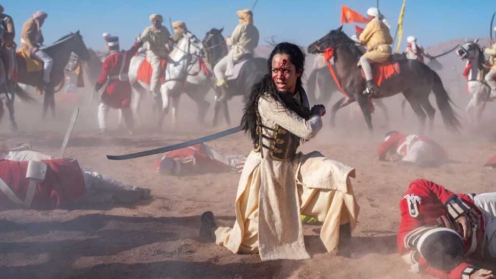 "Devika Bhise in ""The Warrior Queen of Jhansi."" Photo Credit Nick Wall. Courtesy of Roadside Attractions."