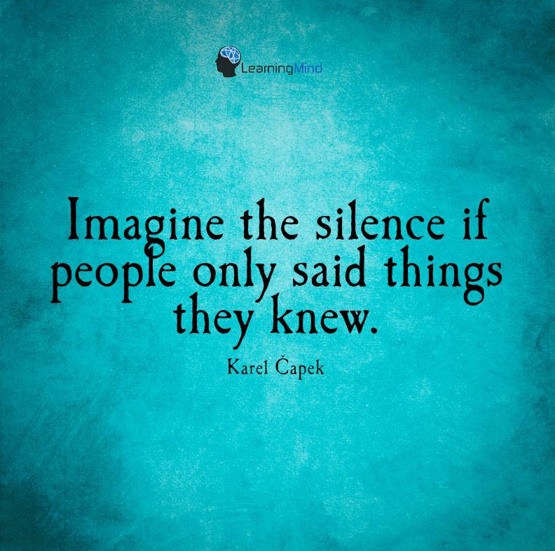 如果人们知道他们的沉默就会告诉你。